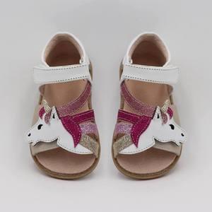 Image 3 - Tipsietoesトップブランドユニコーンソフトレザー夏新女の子子供裸足シューズキッズサンダル幼児1 12歳