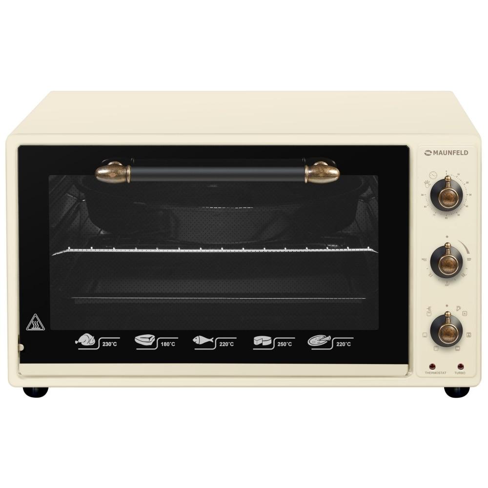Mini oven electric MAUNFELD СEMOA. 456.RIB beige rib knit lettuce hem open front bodysuit