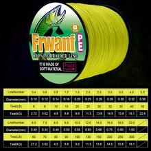 Frwanf 8 Braid Super Strong Braided Fishing Line 8 Wire Multifilament Fishing Line 300M 6-300LB 0.10MM-1.00MM Black