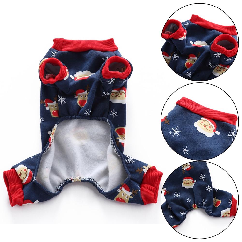 TINGHAO Lovely Christmas Santa Snowflake Thermal Dog Pajamas Pet Clothes Coat Jumpsuit