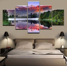 Wall Art 5 Pieces Home Decorative Landscape Picture  Framework Canvas Oil Painting Modern Modular Pictures HD Printed Poster