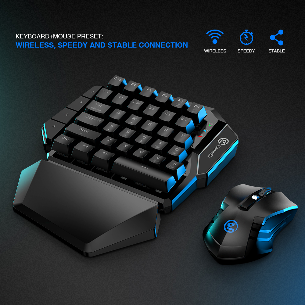 GameSir Z2 Gaming 2.4GHz Wireless Keypad and DPI Mouse Combo One-handed Keyboard For Android/iOS/Windows For PUBG FPS Games 3