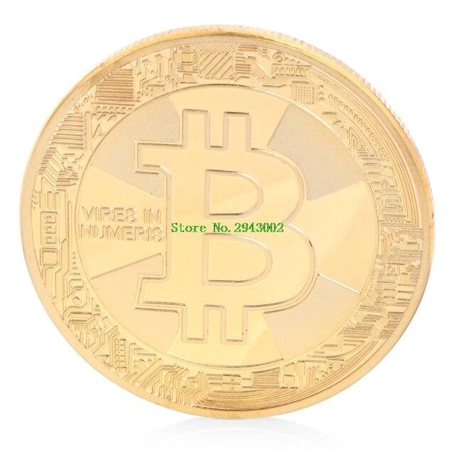 Commemorate Coin Copper/Gold/ Silver Plated Bitcoin BTC Coin Collectible Gift Art Collection Souvenir Physical