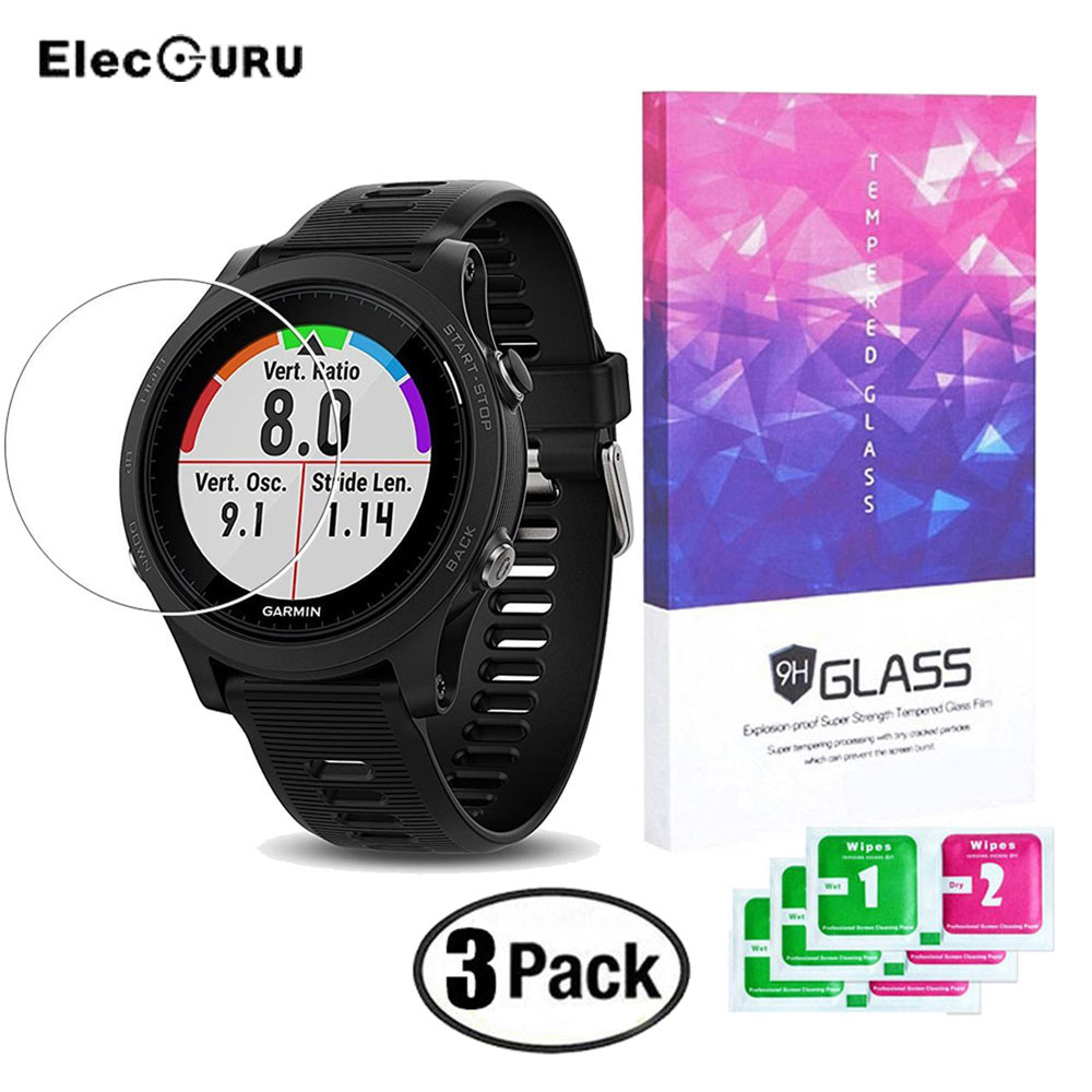For Garmin Forerunner 935 Screen Protector Full Cover Tempered Glass Ultra Clear Anti Scratch Watch Screen Protective Glass Film цена и фото