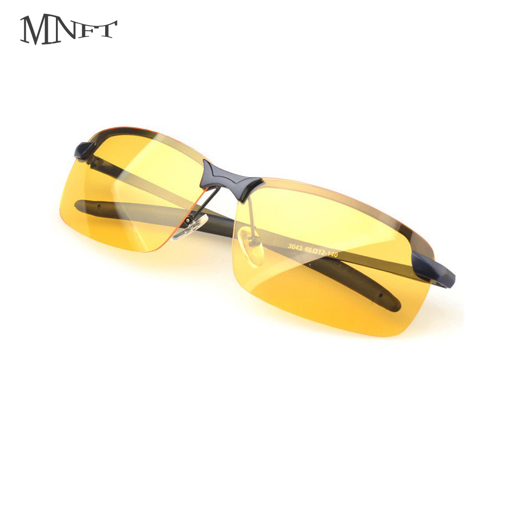 MNFT 1Set Mens Sports Polarized Sunglasses Fishing Driving Unbreakable Metal Glasses Fishing Glass Night Version kano y9105 zinc alloy frame resin lens polarized night vision driving glasses black