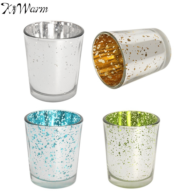 kiwarm newest gorgeous glittery glass tea light candle holders votive holders tealight christmas party wedding home