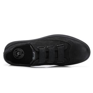 Image 5 - גמל חדש שחור גברים של נעלי עור אמיתי אופנה נעליים יומיומיות גברים מט מגמת בריטי פרא אדם דירות הנעלה