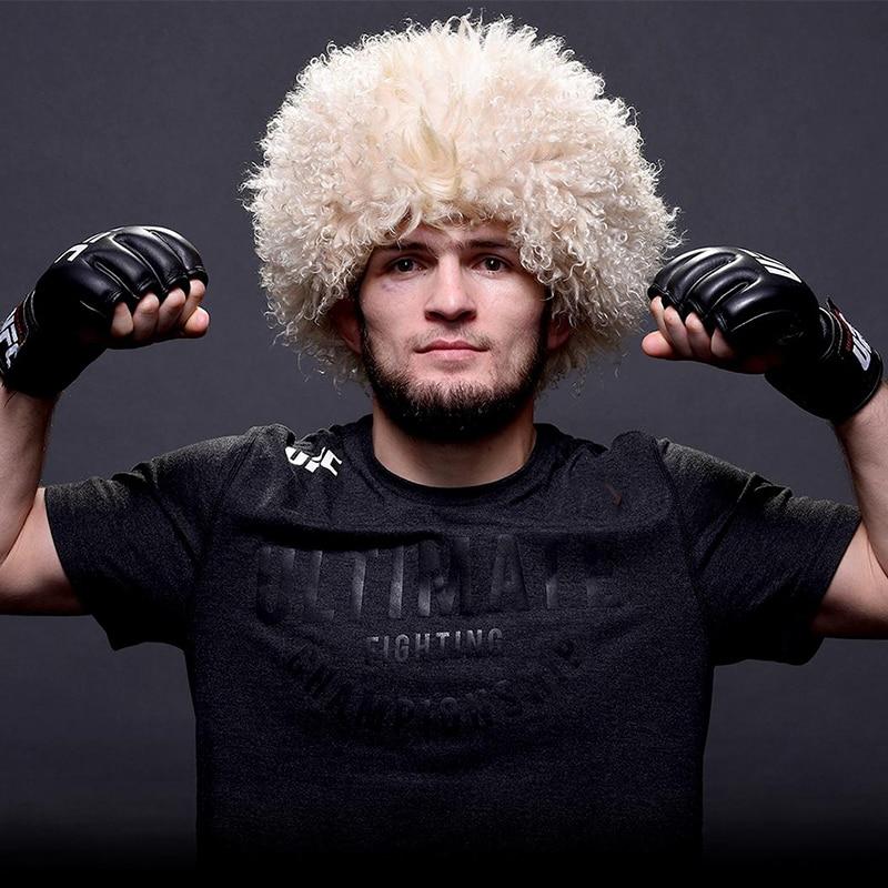 his cap Papaha ethnic headwear Caucasus souvenir natural goat wool papakha  Khabib hat style habib nurmagomedov 001 652-in Headbands from Apparel  Accessories ... db147a947418