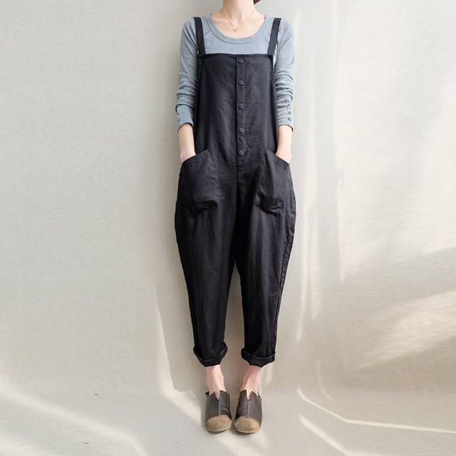 fed3a26334d ZANZEA Women Sleeveless Pockets Dungaree Baggy Jumpsuits Overalls Fashion  Strappy Casual Loose Long Harem Pants Bib Trousers