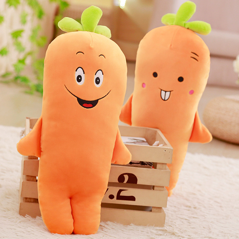 RYRY 100cm large carrot stuffed pillow soft cartoon carrot cushion 4 cute style plush plants toys for children adults gifts