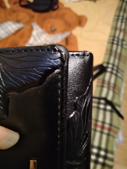 FANI Brand Women Wallets Fashion Flower Print Genuine Leather Wallet Three Folding Multi-function Hasp Simple Women Purse Hot photo review
