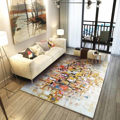 Else Yellow Red Black Cubes Boxes Cream Floor 3d Print Non Slip Microfiber Living Room Decorative Modern Washable Area Rug Mat