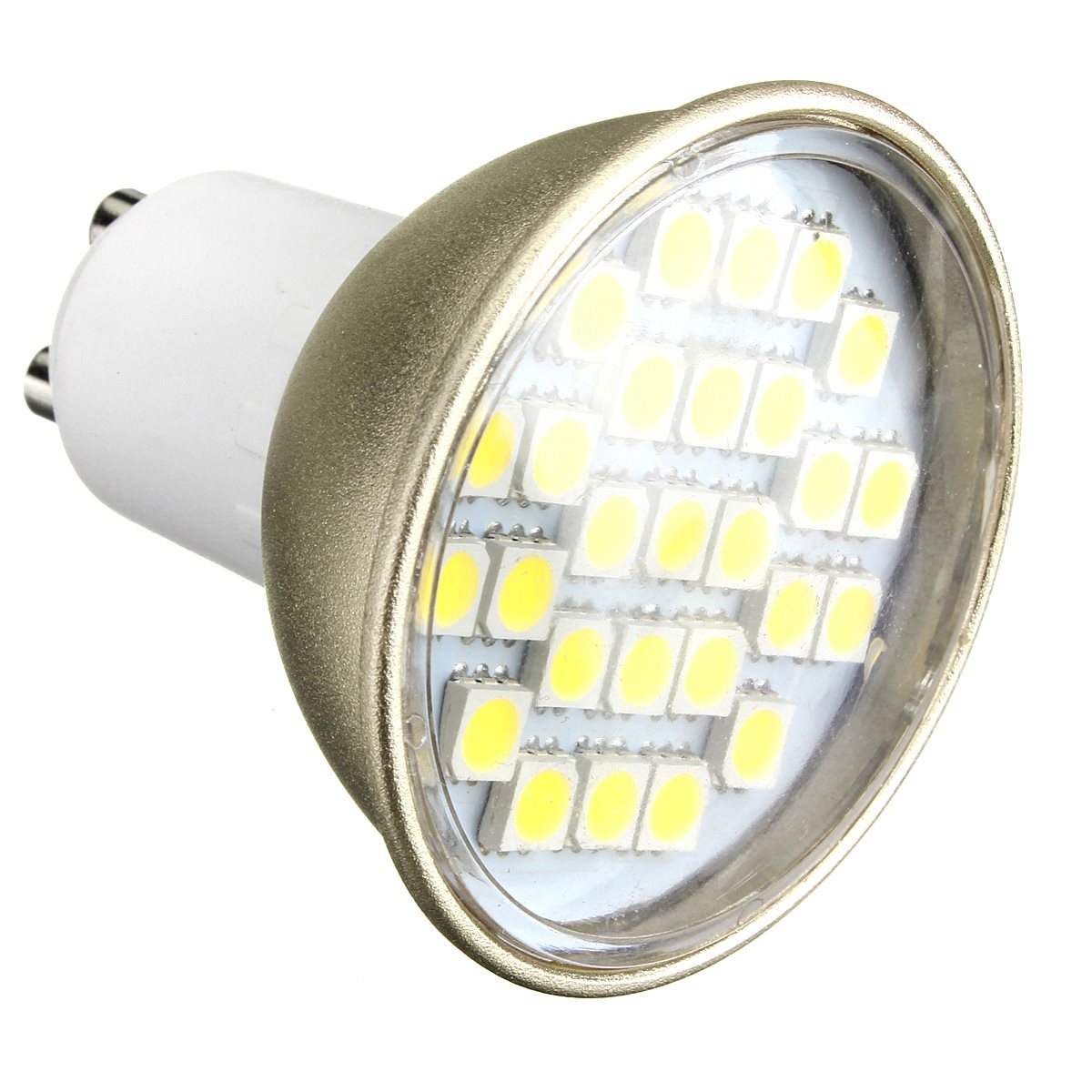 220V GU10 MR16 27 SMD LED Light 5630 5050 SMD LED Spotlight Warm Cool White Lamp Bulb