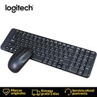 Logitech MINI Wireless Keyboard and Mouse Combo MK220 Spanish Version Set Gaming Lap Top Gamer Waterproof Ergonomics Keyboard