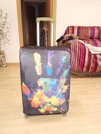 TRIPNUO Dikkere Blue City-kofferdeksel Reiskoffer Beschermhoes voor kofferkastje Van toepassing op 19 '' - 32 '' Kofferhoes photo review