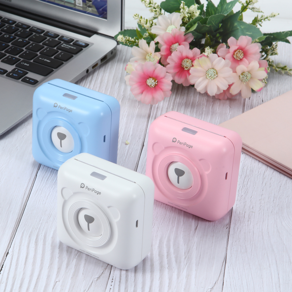 Mini Pocket Photo Printer telefono Mobile Photo Stampante Portatile Stampante Portatile title=
