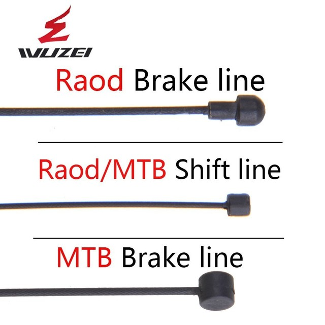 WUZEI 4 stuks Teflon Gecoat Shifting & Brake Inner Cable MTB racefiets Fiets Voor Achter Derailleur Brake Inner Cable draad Sets