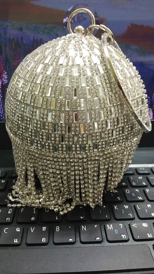 Golden Diamond Tassel Women Party Metal Crystal Clutches Evening Bags Wedding Bag Bridal Shoulder Handbag Wristlets Clutch Purse photo review