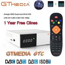 GTMEDIA GTC Receptor DVB-S2 DVB-C DVB-T2 Amlogic S905D android 6.0 TV BOX 2GB 16