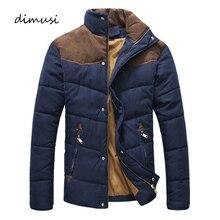 DIMUSI Winter Jacket Men Warm Casual Parkas Cotton Stand Col