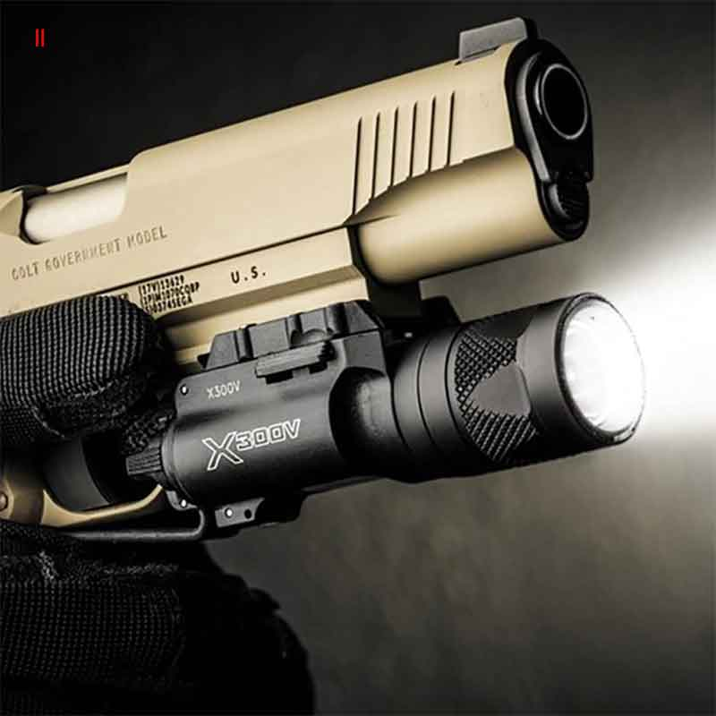 Tactical X300V Pistol Flashlight Strobe Weapon Light LED 500 Lumen Handgun Airsoft Hunting Shooting Rail X300 Series LightTactical X300V Pistol Flashlight Strobe Weapon Light LED 500 Lumen Handgun Airsoft Hunting Shooting Rail X300 Series Light