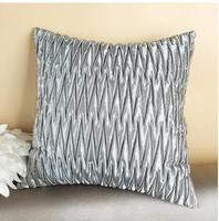 45 × 45センチストライププリーツグレー装飾枕カバースクエアシングルクッション枕カバー
