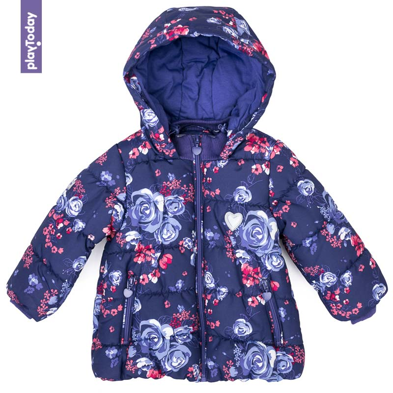 Jackets & Coats PLAYTODAY for girls 378001 Children clothes kids clothes children floral clothes 2017 winter girls kids clothes set jackets jeans outfits 2pcs kids sport suit for girls clothing sets