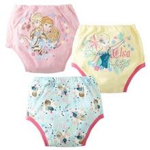 9 шт./лот, водонепроницаемые детские штаны с рисунком медведя и мышки, многоразовое нижнее белье для девочек, трусики для унитаза