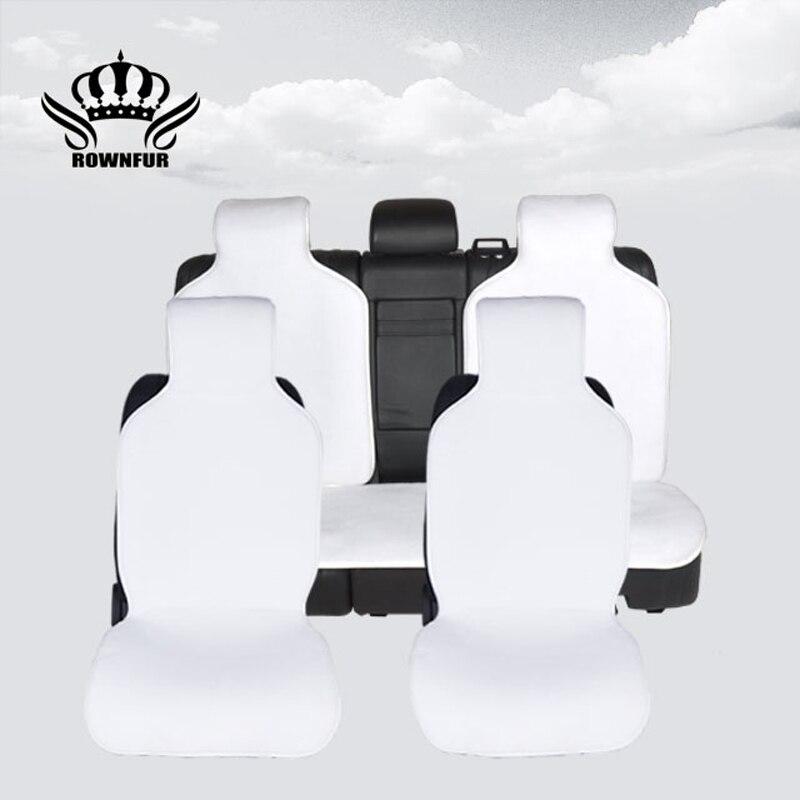 1 set couverture de siège de voiture en fausse fourrure taille universelle pour tous les accessoires auto pour voiture hyundai ix35 pour voiture dacia dokker pour voiture vw golf 6