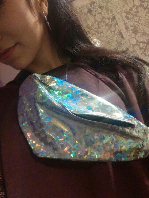 Xiniu Dames Taille Verpakking Mode Neutraal Buiten Sport Laser Strandtas Messenger Crossbody Tas Borsttas Casual Fanny Pack Tassen photo review