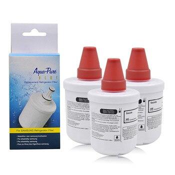 مصفاة لمياه الثلاجة قطع غيار سامسونج DA29-00003G DA29-00003B ، DA29-00003A أكوا-نقية زائد منقي مياه 3 قطعة/الوحدة
