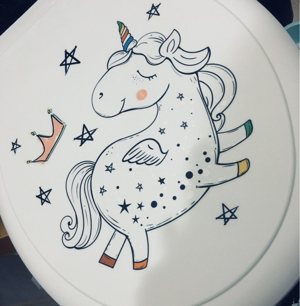 3D Unicorn Toilet Sticker photo review