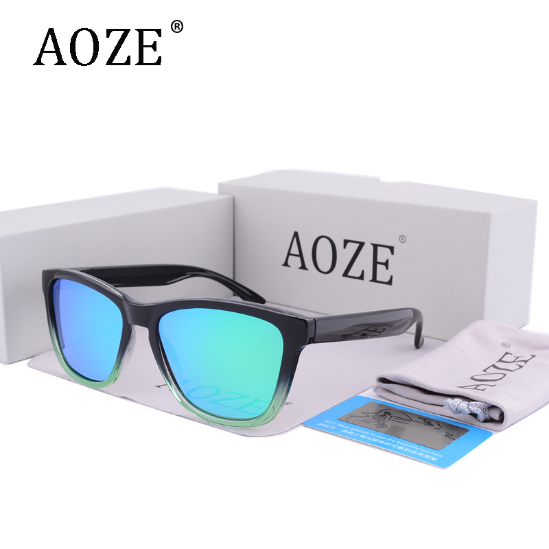 AOZE Luxury Brand design men women sunglasses Polarized Classic Gradient frame original packaging Gafas Coating eyeglasses