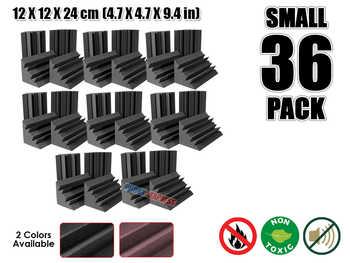 Arrowzoom 36 pcs Bass Traps Acoustic Foam Sound Absorption Treatment 12 x 12 x 24 cm (4.7 x 4.7 x 9.4 in) KK1133 - DISCOUNT ITEM  5% OFF All Category