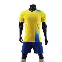 2018 hombres fútbol deporte Kit Futbol uniformes Survetement fútbol  entrenamiento equipo impresión personalizada(China) cbe401d216c42