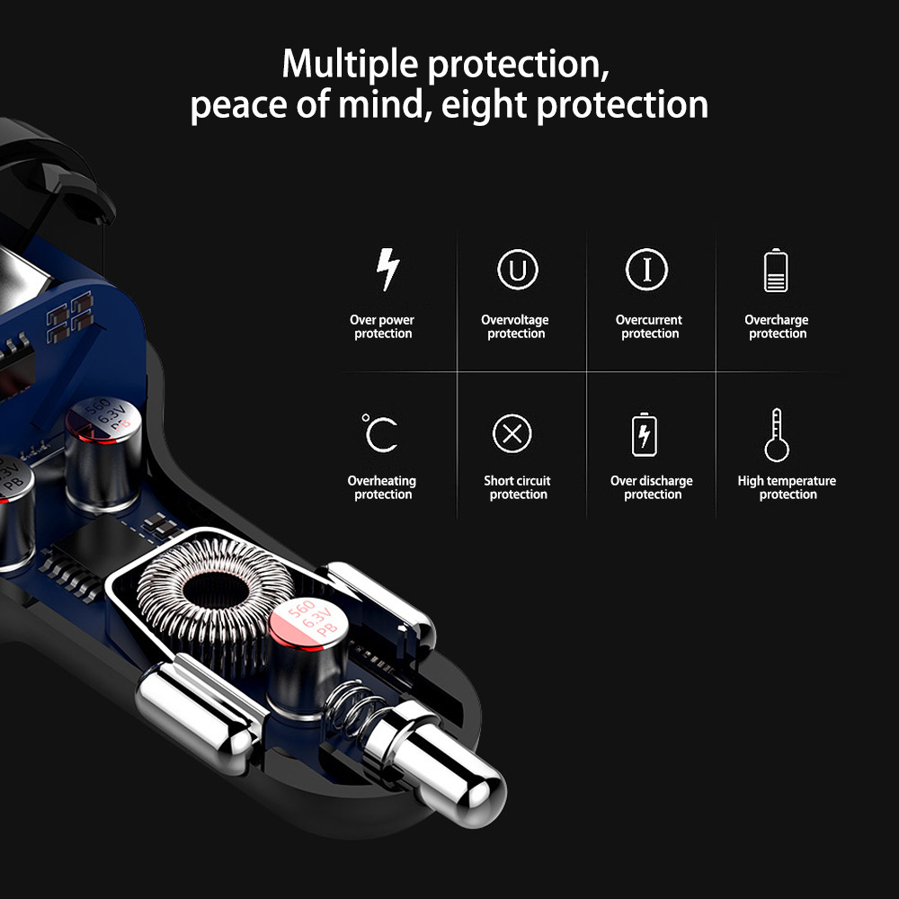 Image 5 - AOSHIKE FM Transmitter MP3 Player Bluetooth Car Kit Modulator 3.0A USB Car Charger Support TF Card and U disk AUX OUT-in FM Transmitters from Automobiles & Motorcycles