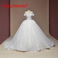 חדש תחרה כדור שמלת חתונה שמלת מבריק חתונה שמלת תפור לפי מידה מפעל סיטונאי מחיר רויאל רכבת כלה שמלה