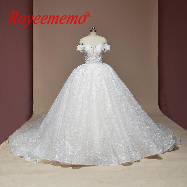 新夜会服のウェディングドレス光沢のあるウェディングドレスカスタムメイド工場卸売価格ロイヤル電車ブライダルドレス