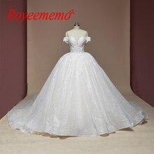 New ren bóng gown wedding dress shiny wedding gown tùy chỉnh thực hiện nhà máy bán buôn giá hoàng gia train bridal dress