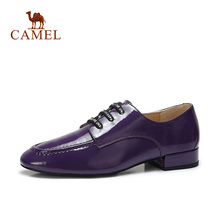 CAMEL Women New Fashion Modern Patent Genuine Leather Casual Shoes Women  Retro Letter Lace Cool Low. 3 Colors Available 02c046a54