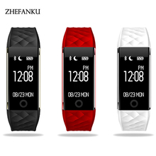 ZHEFANKU Smart Wristwatch Men Women Smart Bluetooth Blood Pressure Heart Rate Pedometer Call Reminder Touch Screen Sports Watch