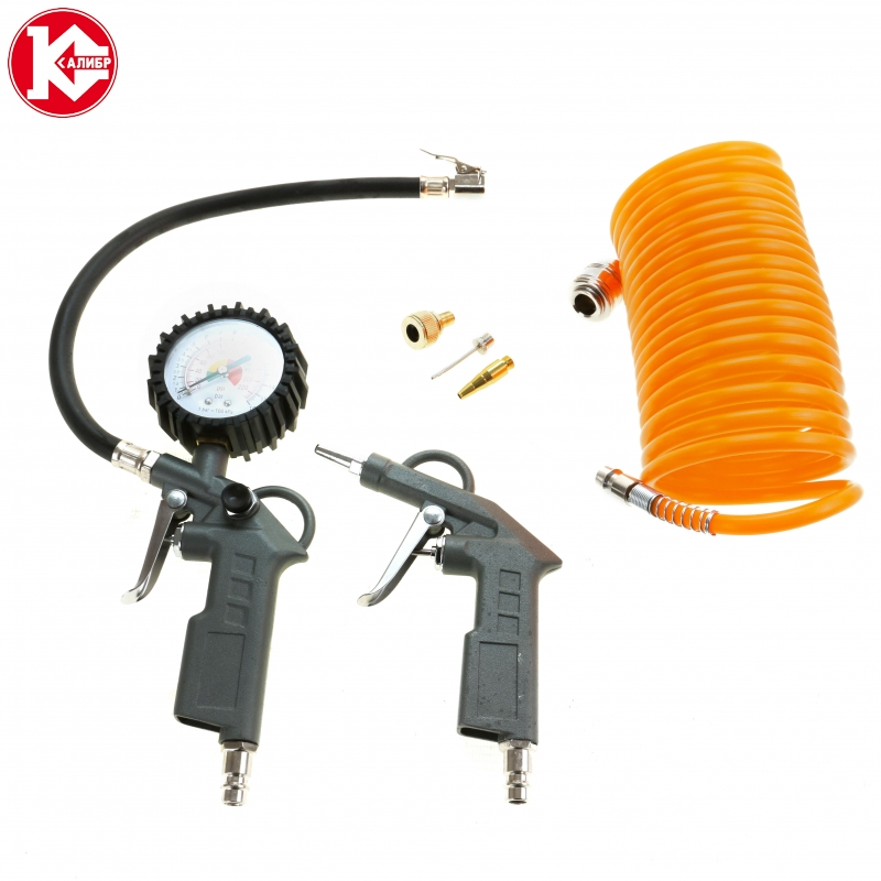 Set of pneumatic tools Kalibr NP-6, Good set for wide kinds of work pneumatic drill kalibr pd 6 3 114r