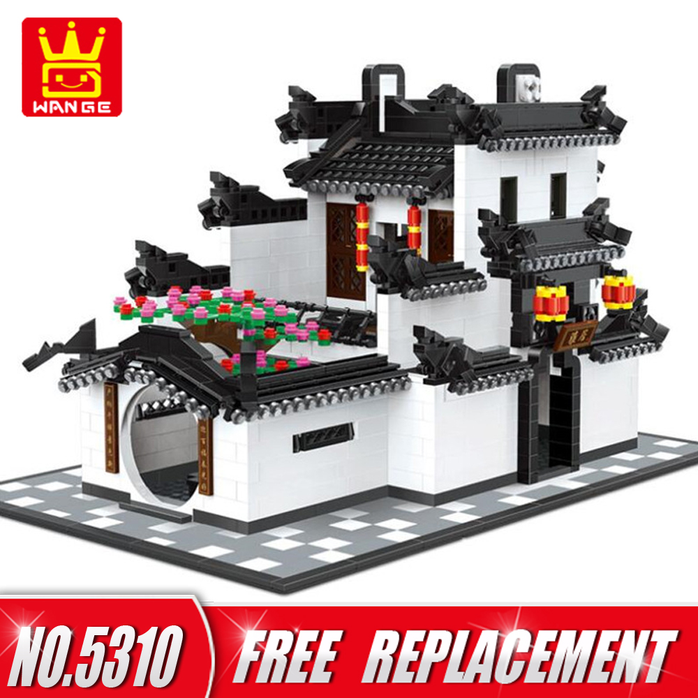 WANGE Building Blocks CHINA HUI STYLE Architecture 1575pcs Bricks Educational Funny Kids Toys for Home Decor