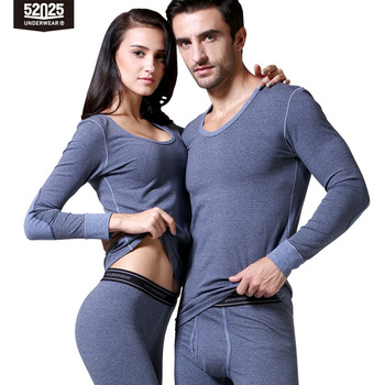 52025 Men Thermal Underwear Women Thermal Underwear Premium Quality Thermal Clothes Cotton Fleece-lined Warm Panels Long Johns