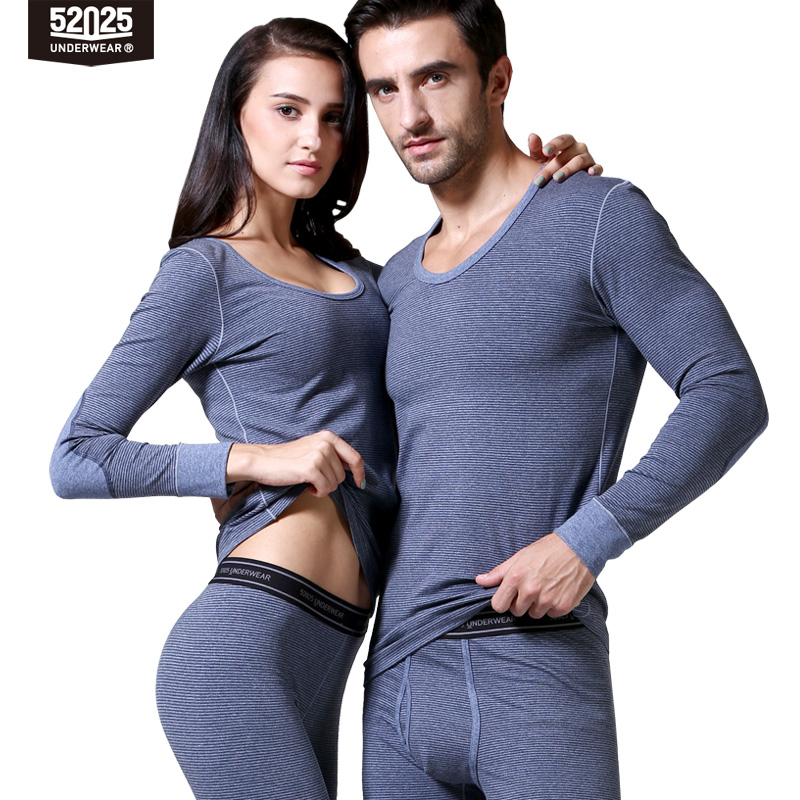 52025 Mens Thermal Underwear Womens Thermal Underwear Cotton Fleece-lined Thick Warm Winter Long Johns Thermal Clothes For Men
