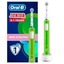 Электрическая зубная щётка Oral-B Junior для детей от 6 лет, зеленая