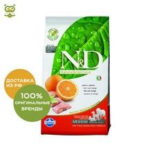 N&D Dog Fish & Orange Adult корм для взрослых собак всех пород, Рыба и апельсин, 2,5 кг.