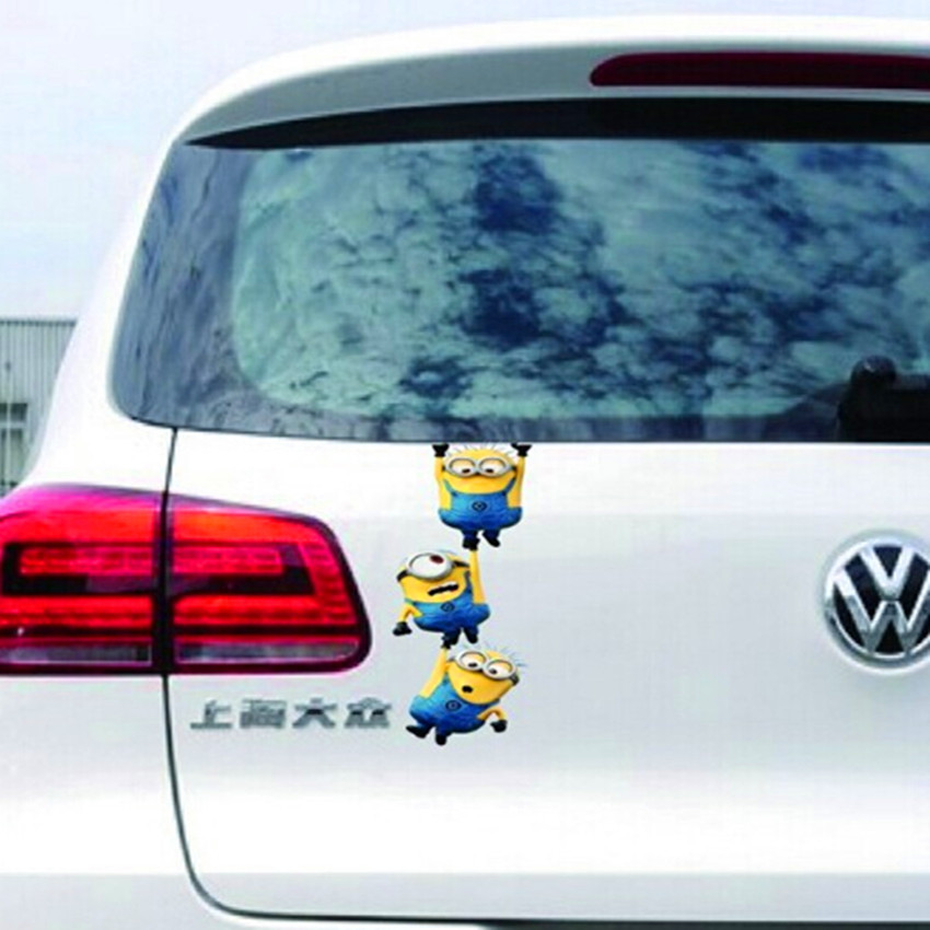 3D Funny Cute Despicable Me Minions Car Body Window Door Stickers Auto Decal Styling For Toyota VW Ford BMW AUDI HONDA KIA JEEP