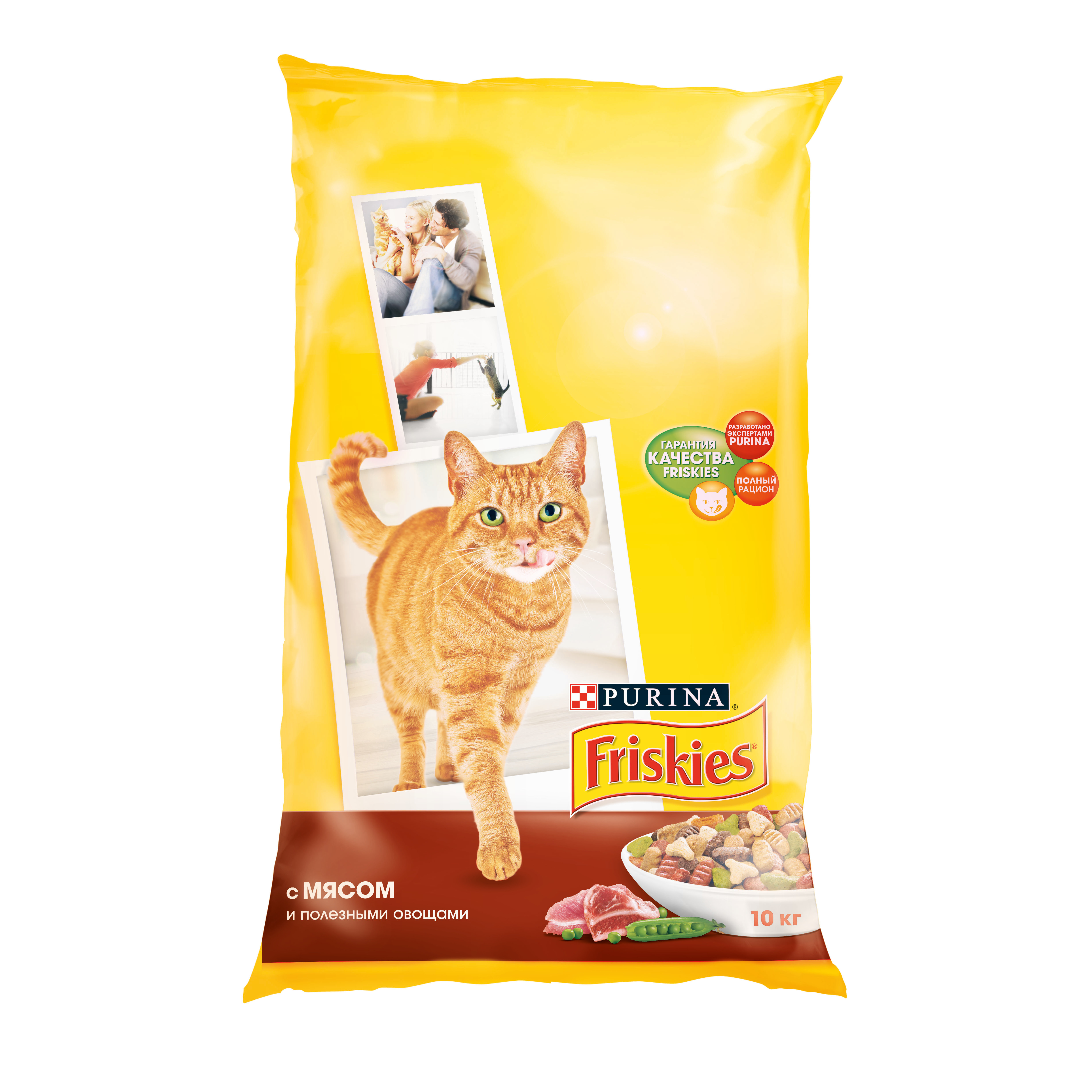 все цены на Friskies dry food for adult cats with meat and healthy vegetables, Package, 10 kg онлайн