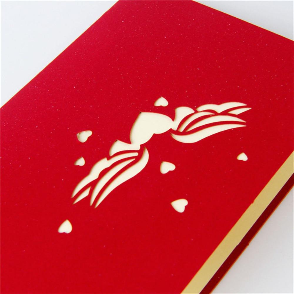 HENGHOME 1 PCS Laser Cut Origami Cards 3D Heart Pop UP Wedding ...